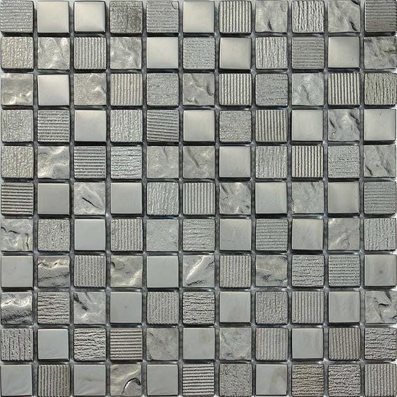 Malla Decorativa Mod. Happy Plata (30x30) Importación