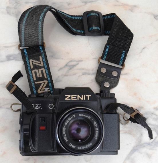 Maquina Fotografica Zenit 122 Com Lente Helios 44m4 58mm