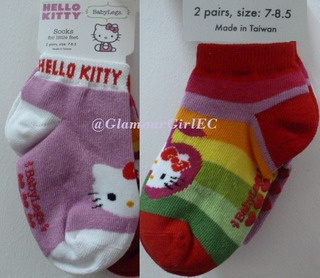 Medias Para Niñas Hello Kitty-sanrio Originales