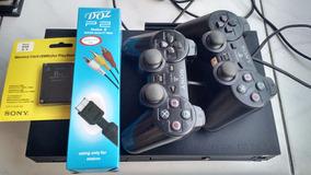 Playstations 2 Tijolo + 20 Jogos Black Friday
