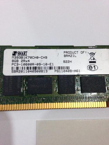 Imagem 1 de 3 de Memoria Smart 8gb Pc3 - 10600r Ddr3 1333 Registrado Ecc 2rx4
