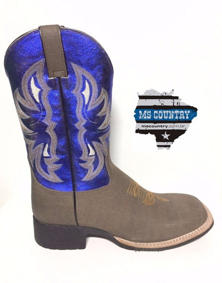 Bota Brazil Country 3628 X3 Stuff Café/steel Blue