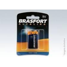 Pilha Bateria Alcalina 9v 6lr61 6304 Brasfort - Kit C/12 Pçs