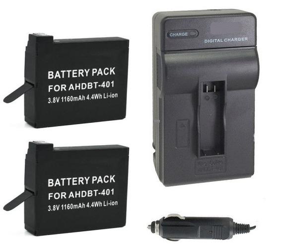 Kit Duas Baterias + Um Carregador P/ Gopro Hero4 Em Niterói