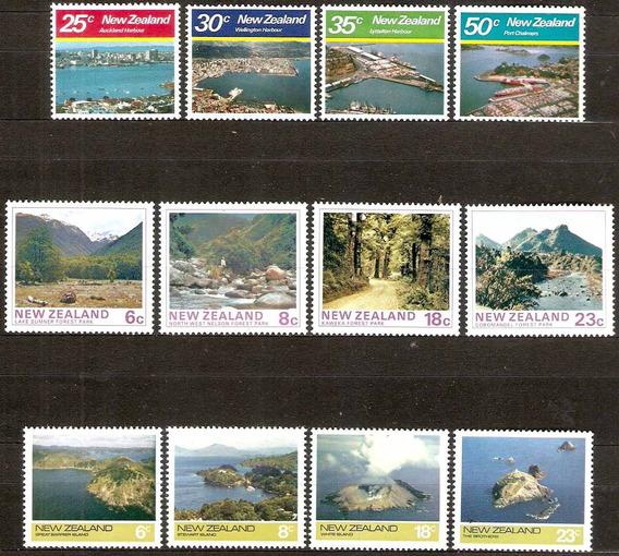 Paisajes Parques - 3 Series Mint Completas 12 Val N. Zelanda