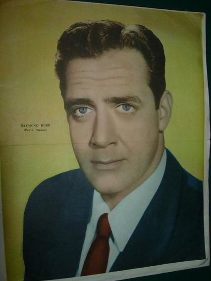 Raymon Burr Perry Mason Poster Original Guia Television