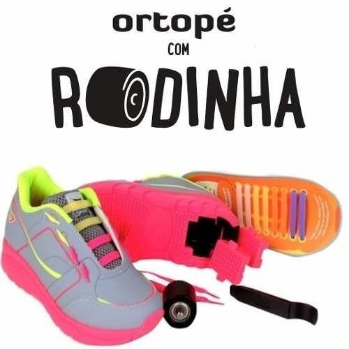 33078bd4e Tênis Infantil Ortope Estica E Puxa Com Rodinha Promoção - R$ 299,90 em  Mercado Livre