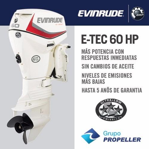 Motor Nautico Fuera De Borda Evinrude E-tec 60 Hp Nuevo 0km