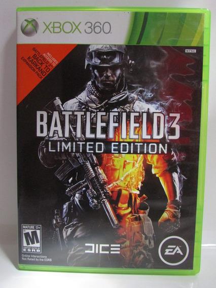 Battlefield 3 Limited Edition - Xbox 360 Original Americano