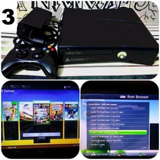 Xbox 360 Slim 320gb + 50 Jogos + 1 Controle Faço Desconto!