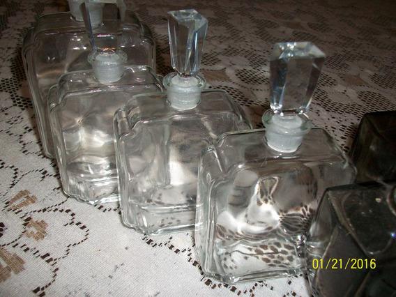 Inospeli Perfumeros Cristal Y Vidrio. Lote De 6 (ca)