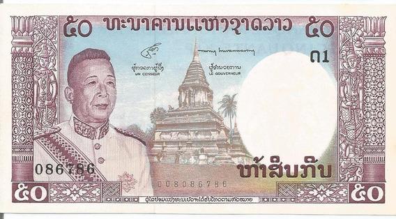 Cédula - Laos - 50 Kip - 1963 - Cat#12