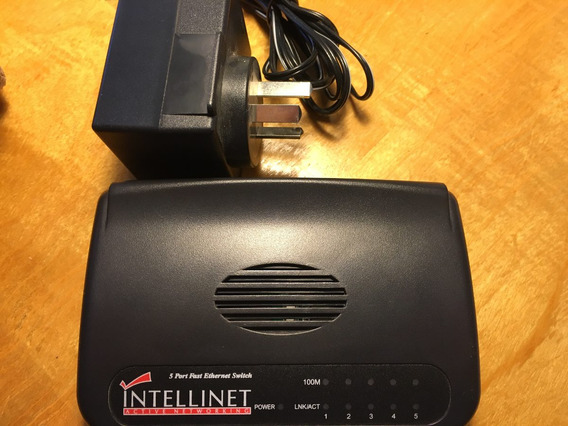Switch Intellinet 5 Puertos Ethernet 100 Mbps