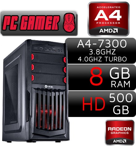 Cpu Gamer 8gb Radeon7480 2g Hdmi Wifi Csgo.fifa Lol Gta5 Bf1