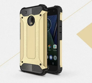 Funda Case Uso Rudo Para Moto G5s Plus + Mica Glass