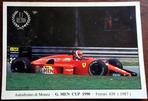 Postal 1990 Italia Monza Autodromo Ferrari En La Plata