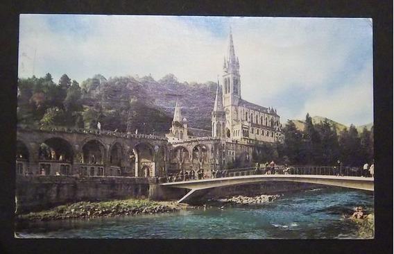 Postal Francia Lurdes Basílica Usada Exc 1979