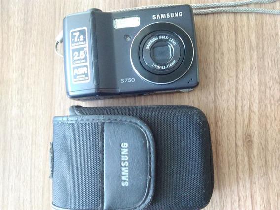 Câmera Digital Samsung S750, 7,2 Mp. Faz Vídeos.