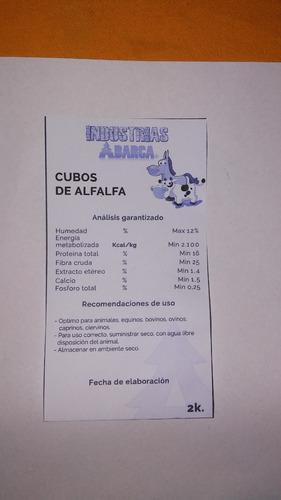 Cubos De Alfalfa 2 Kilos 100% Nutritivos Barratisimo