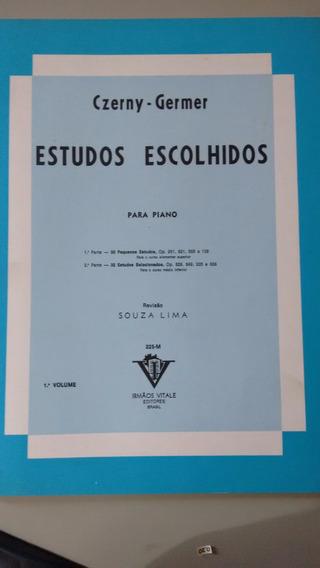 Livro Estudos Para Piano - Estudo Escolhidos Czerny Germer