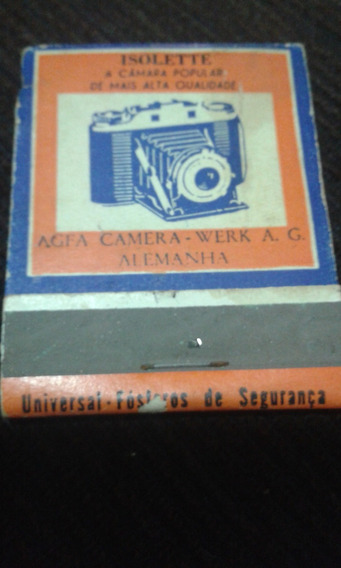 Caixa De Fosforos Antiga Isolette Agfa Camera Werk A.g. Ale