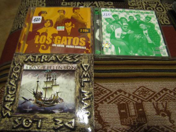 Lote De 3 Cds Nacionales. Precio Por Album