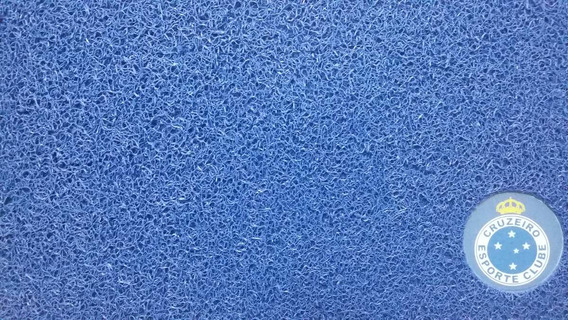 Tapete Cruzeiro Esporte Clube - Capacho Vinil 60x40cm Azul
