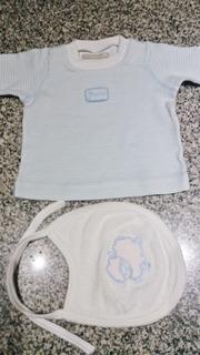 Remerita Minimimo Bebe Manga Larga+babero 100 % Algodón