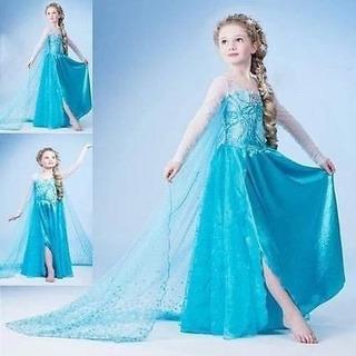 Vestidos Princesa Elsa Frozen, Sofía, Bella,jazmín Disfraces