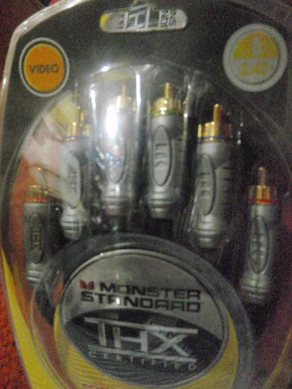 Cable Rca Video Monster Certificado 2.43 Metros El Mejor