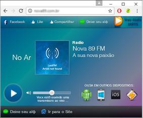 Código Fonte Janela Player Para Web Rádio