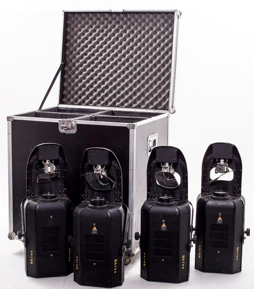 4 Moving Lights Geni Shiva Sv-250 Dmx C/ Case Sob Medida.