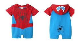 Enterito Bebe Spiderman Hombre Araña Baby Body Capucha