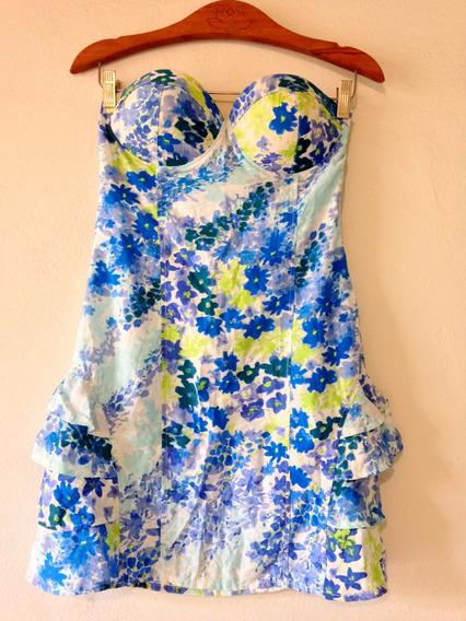 Vestido Azul Floral Tam M