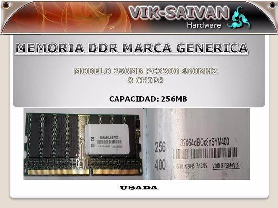 Memoria Ddr Generica 256mb Pc-3200 400mhz 8 Chips 33
