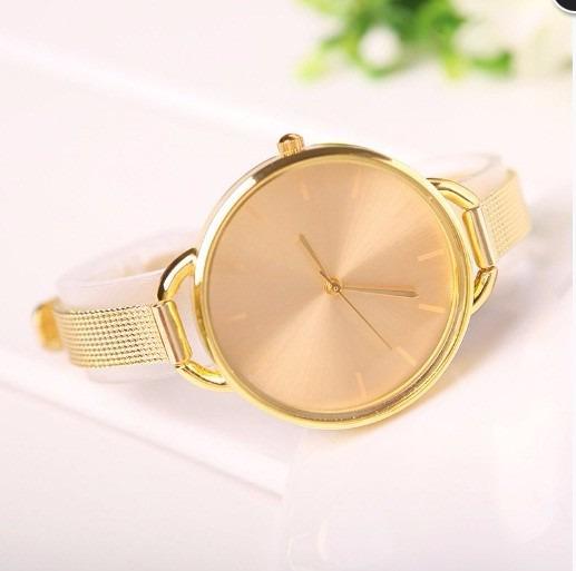 Relógio Feminino Dourado Quartzo Analógico - De Pulso