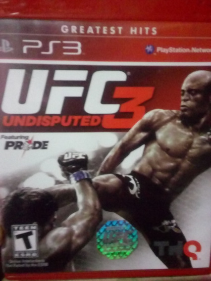 Ufc Undisputed 3. Jogo Playstation 3 *original*