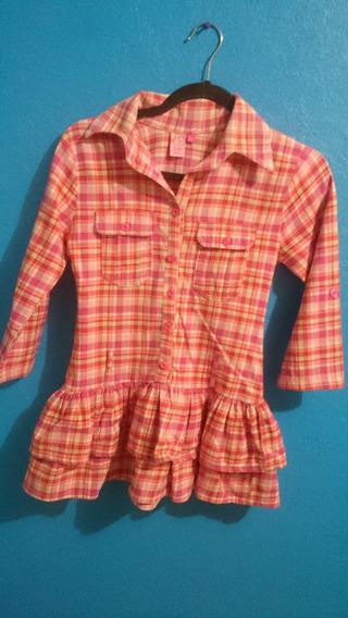 Camisa Rosa Marca Up Down Para Niña Talla 14