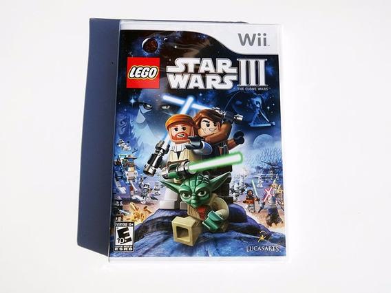 Lego Star Wars Iii 3 Clone Wars Original Novo Wii Frete 0!