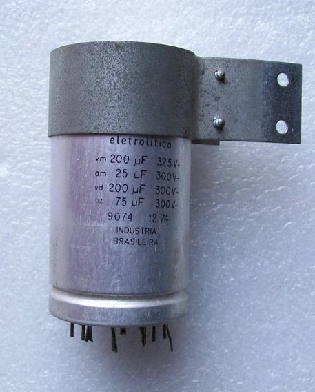 Capacitor Elect 200mf 325v 25 Y 75mf 3 Capacitores En Uno