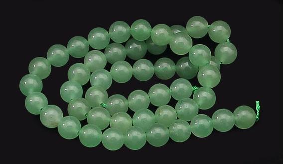 Aventurina Verde Bola Esfera Lisa 8mm Colar Teostone 644
