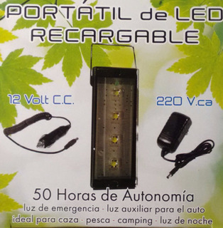 Luz De Emergencia 12v De Led Recargable Portatil Auto