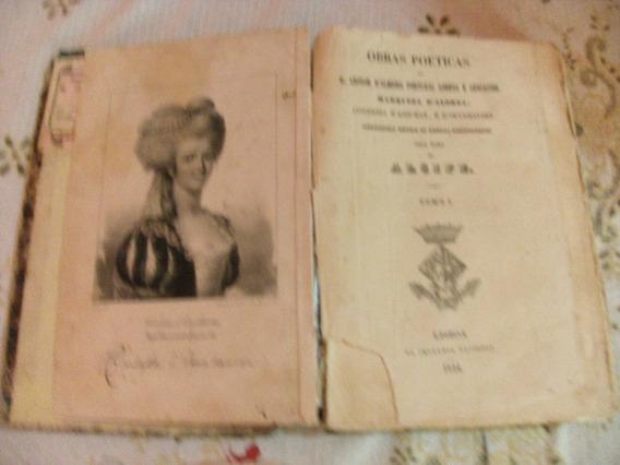 Antigo E Raro Livro De Poesia De 1844