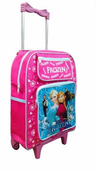 Mochila Escolar Infantil Frozen Com Rodinhas 45cm
