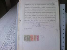 77 - Documento Com Selos De Fiscais Do Brasil