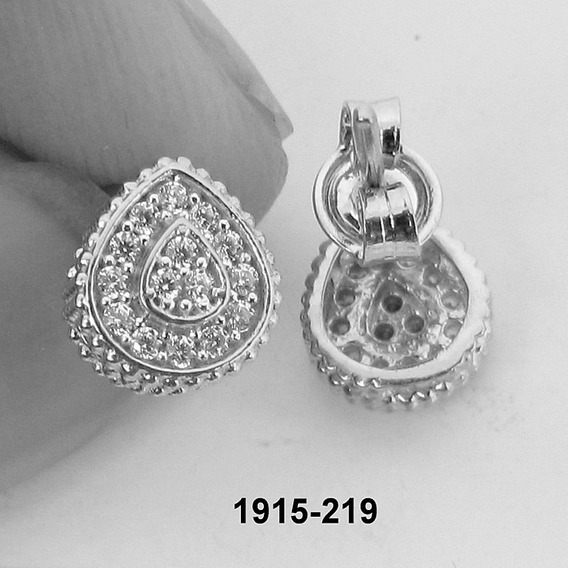 1915 Brinco Gota De Ouro Branco Rpw Joias 18k-750