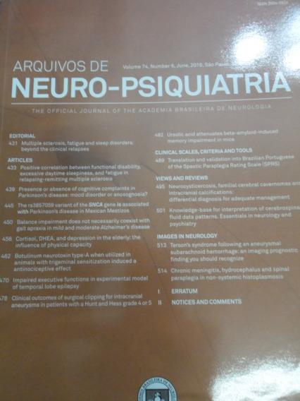 Revista - Arquivos De Neuro-psiquiatria - V.74 N°6 Junh 2016