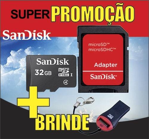 Cartão De Memória Micro Sd Sandisk 32gb +leitor+original