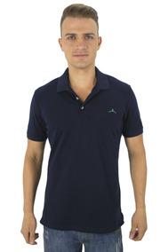 Camiseta Polo Hanger 1978 Algoodon Tres Botones Azul C Fit