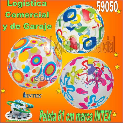 Pelota Inflable Playa Piscina Niños Intex 59050 61cm Diametr